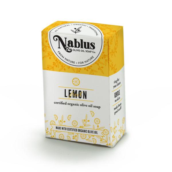 lemon scent organic olive oil soap